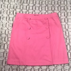 Talbot's Pink Faux Wrap Skirt w/ Buttons on Front